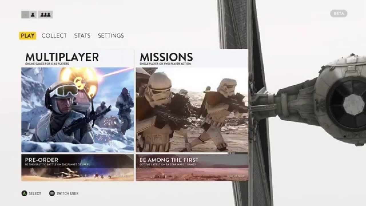 battlefront menu