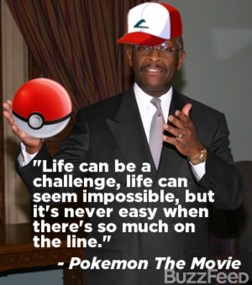 Lets not forget this is the same man who plagiarized Pokemon the Movie for a speech
